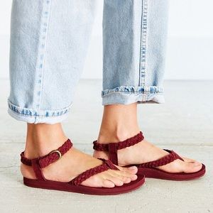 Teva Purple Original Suede Braid Sandal Size 10